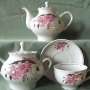 Сервизы чайные Чашки с блюдцами фарфоровые Гламур фото
