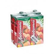 Нектар ЛЮБИМЫЙ яблоко/персик, 0,95л фото