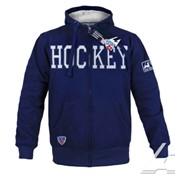 Толстовка KHL Hockey с капюшоном на молнии темно-синяя фото