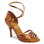 Supadance Обувь женская для латины 1166, Dark Tan Satin фото