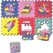 """Развивающий коврик Puzzle World """"Транспорт"""" 6 эл. 822F-FM фото"""