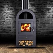 Камин Печь буржуйка стальная 9 кВт + термостойкие перчатки фото
