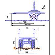 Прицеп-роспуск телескопическое дышло 848410