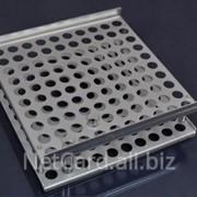 Штатив алюминиевый на 100 гнезд фото