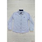 Рубашка голубого цвета с мелким принтом A-yugi Т16-326Гл(18023) З фото