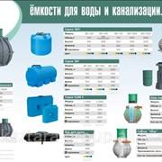 Емкости пластиковые для воды, канализации фото