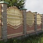 Продажа декоративных заборов из бетона и колец для колодца фото