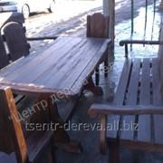 Набор садовой деревянной мебели фото