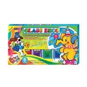 Витражные краски для детей Веселый слоник 6 цветов фото