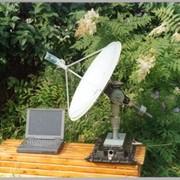 Гиростабилизированная антенна спутниковой связи для установки на подвижных объектах (поездах, автомобилях, яхтах и т.д.). Разработка 2002 г. фото