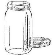 Банка стекнянная 1,0 литр с завинчивающейся крышкой фото