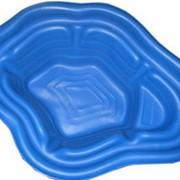 Пластиковый пруд 190л, цвет синий фото