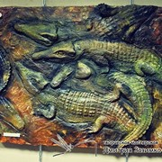 Барельефная картина - Crocodiles. Крокодилы фото