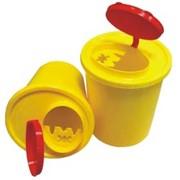 Контейнер одноразовый для сбора и утилизации острых медицинских отходов фото