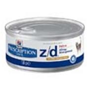 Корм для котов Hill's Prescription Diet z/d консервы для кошек с чувствительным пищеварением с курицей 156 гр фото