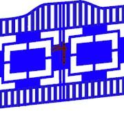 Ворота «Коллаж» В‐1 фото