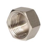 Пробка латунная никель 3/4 дюйм В RS, арт.22502 фото