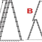 Лестницы-стремянки АЛЮМИНИЕВЫЕ универсальные 3-х секционные фото