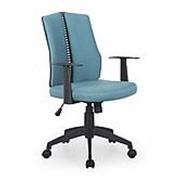 Кресло компьютерное Halmar IRON (черный/бирюзовый) фото