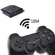Джойстик PS2 Беспроводной черный /NSF-0000/ фото