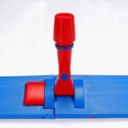Швабра для сухой уборки 60см Plastic Flat Dustmop Holder 60 cm Blue фото