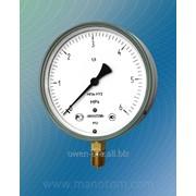 Мановакуумметр с осевым расположением штуцера диаметр корпуса 160 мм МП4-У, ВП4-У, МВП4-У