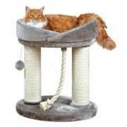 Когтеточка домик для кошки Марселла Trixie 47062 высота 60см, серый фото