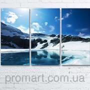 Модульна картина на полотні Гірське озеро код КМ6090-085 фото