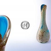 Функционально-декоративная ваза из стекла, ручной работы. Артикул 0075_2 фото