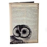 Обложка для паспорта из кожзама Винтаж сова фото