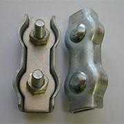 Зажим троса плоский двойной (DUPLEX) фото
