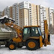 Очистка территории от снега фото