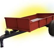 Тележка-трап универсальная ТТС-Ф-2А для перевозки различных насыпных грузов с выгрузкой самосвальными кузовом «назад», а также для транспортировки затаренных грузов, которые загружаются в опущен на землю кузов. фото