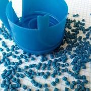 Вторичная гранула ПВД синий (крышка 19л бутылей пэт) фото