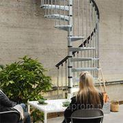Винтовая лестница Arke Сivik ZINK для наружного использования, диаметр 120 см