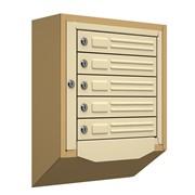 Антивандальный почтовый ящик Кварц-5, бежевый