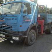 Услуги манипулятора (аренда) Автомобиль бортовой КАМАЗ с манипулятором фото