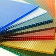 Цветной Сотовый Поликарбонат 6 мм фото