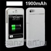 Чехол аккумулятор для Iphone 4\4s Ultra Slim 1900Am SKV 1 Белый 86547 фото