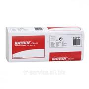 Листовые бумажные полотенца Katrin Classic Zig Zag, V-укладка - 20 пач/уп, 150 л/пач, 2 слоя фото