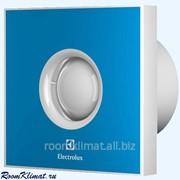 Вентилятор бытовой накладной для санузлов Electrolux Электролюкс Rainbow EAFR-150TH blue с датчиком влажности фото