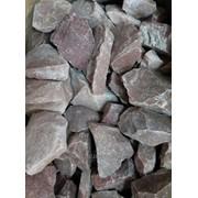 Камень для бани малиновый кварцит колотый 40*80 мм 10 кг фото