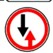 Дорожный знак Преимущество встречного движения фото