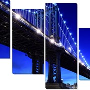 Картина модульная Нью Йорк. Панорама фото