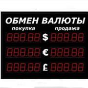 Табло курса валют (на три валюты), 5 знаков, высота цифр 90 мм, для солнца, одностороннее фото
