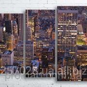 Модульна картина на полотні Нью-Йорк. Манхеттен код КМ100130-072-2 фото