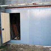 Ворота гаражные с калиткой фото