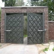 Ворота гаражные распашные фото