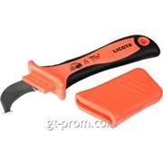 Нож электрика для снятия изоляции VDE 1000В, с пяткой AKD-V007 фото