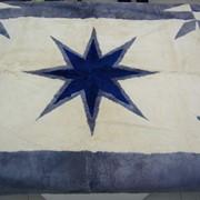 Ковер меховой Синяя звезда фото